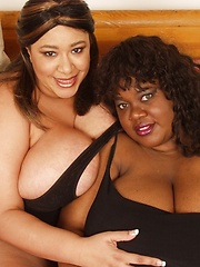 Honey Juggs and Melonie Rose - huge boobed black mamas