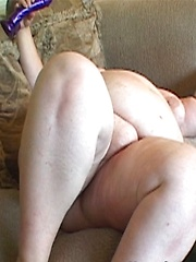 Fat big titted lesbian is going to demonstrate her girlfriend what real hard fuck means