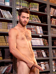 Tommy fucking with hot stud in the library
