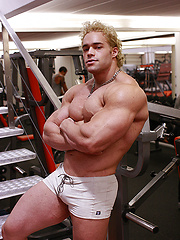 20-year old Ricky Wollensky just loves to pump his big boyish muscles