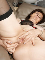 Aged housewive touching her pussy and tight anal hole