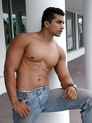 Handsome latin man