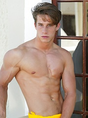 A classic Pin-Up photoset of BelAmi jock Yves Carradine showing off his amazing athletic body