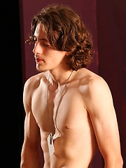 Str8 long-haired handsome showing his nude beaty