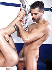 D.O. AND JONATHAN AGASSI WORK UP A SWEAT