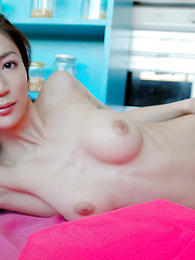 Kinky Asian tramp enjoys wearing jewelry and nothing else