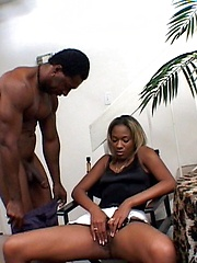 Black wife serviced by her husband