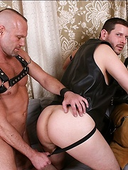 Two leather daddies love each other