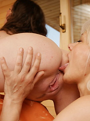 Mature lesbian with her young girlfriend