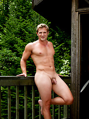 Softcore solo session of sexy blond man