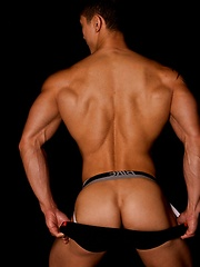 Fantastic jock strap set of this flawless Asian fitness model