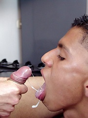 Latin studs fucking in the kitchen