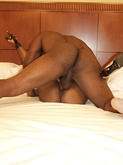 Red hot pussy pounding action with an ebony hottie