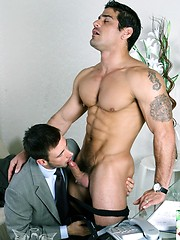 Muscled gay fuck his buddy