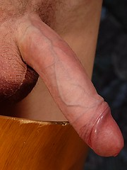 Cute twink Abel shows his uncot cock