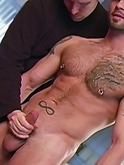 Hairy hunk presents his dick