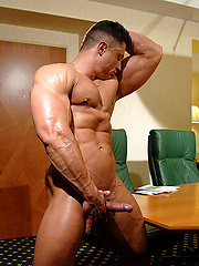 Ben Johnson shows muscled cock